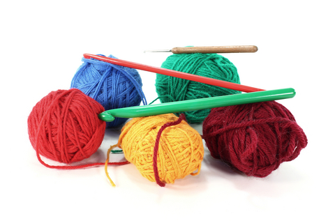right crochet yarn