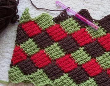 Crochet Entrelac : How To Make Tunisian Crochet Entrelac Apps Directories